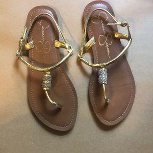 Jessica Simpson Gold Sandal
